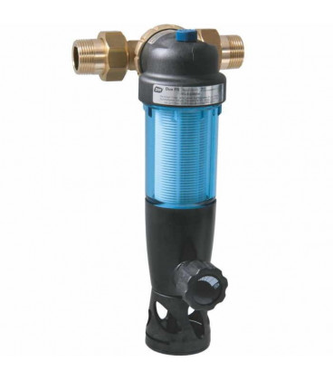 Backwashable domestic water filter