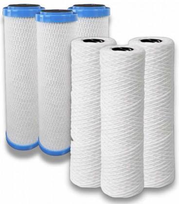 Paquete de filtros de carbón + filtro de sedimentos