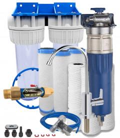 Anti-limestone purifying filter pack